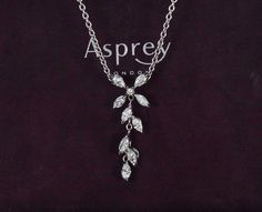 $8,500 Asprey London 18K White Gold 1.00ct Marquis Round Diamond Flower Necklace | eBay