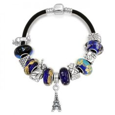 World Traveler Dangle Charm Tourist Bracelet Pandora Compatible Beads