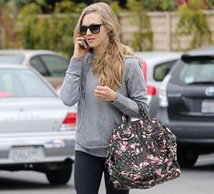 Amanda Seyfried and Givenchy Floral Nightingale Bag