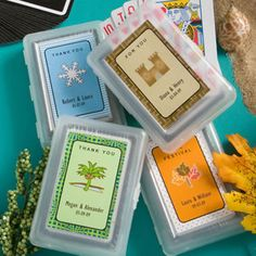 Theme Playing Card Favors - With Personalized Box