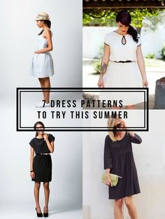7 Summer Dress Patterns | Find more inspiration to sew your own dresses at http://www.sewinlove.com.au/tag/dress/