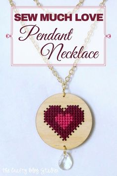 Add this unique piece of DIY Jewelry to your collection. A simple cross-stitch heart pendant will add beautiful style to your collection. Sew Much Love Project Kit.