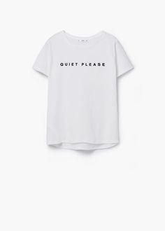 T-shirt algodão mensagem | MANGO