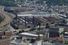 I can see my house!  Old steel mill, Johnstown,