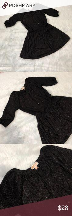 Michael Michael kors sparkly dress Black mini dress has a lot of sparkle,double lined,EUC,elastic waist,no trades MICHAEL Michael Kors Dresses Mini