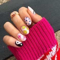 Polygel Nails, Nail Manicure, Swag Nails, Hair And Nails, Gel Manicures, Cute Acrylic Nails, Cute Nails, Short Oval Nails, Girls Nails