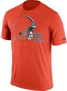 53cf81f8f Nike Men's Cleveland Legend Logo Performance Orange T-Shirt, Size: Small,  Team
