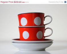 ON SALE Back in USSR kitchen polka dot tea or coffee by agafrog, $18.80