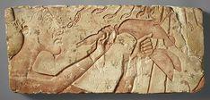 Akhenaten Sacrificing a Duck, New Kingdom, Dynasty 18, reign of Akhenaten, ca. 1353–1336 B.C. Egyptian Limestone H. 9 5/8 in. (24.4 cm)