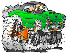 quadro carro montro rat fink