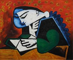 Image result for pablo picasso reading