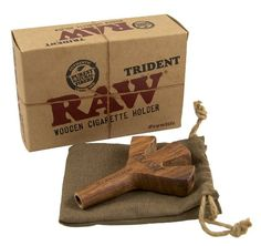 Save your time attempting to roll the almighty cross joint and get yourself the limited edition trident joint holder by Raw....