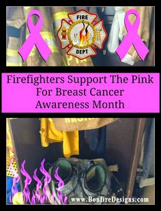 Firefighters Support Breast Cancer Awareness Month