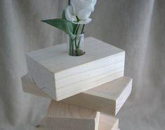 Knospe Vase und Holz von lecoindubois auf Etsy