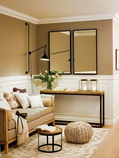 Unique Home Interior Apartment Entryway, Entryway Decor, Style At Home, Home Office Space, Living Room Sofa, Cozy Living, Home Fashion, Design Case, Ideal Home