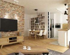 mieszkanie jasne w stylu nowoczesnym/skandynawskim 60m2 - Salon, styl skandynawski - zdjęcie od Grafika i Projekt architektura wnętrz