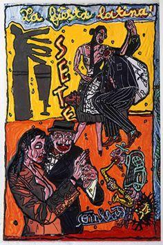 Fiesta Latina 1999, 3° édition - Affiche : Robert Combas