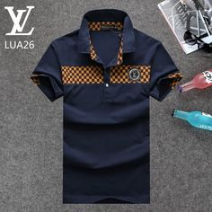 Louis Vuitton POLO shirts men-LV61823A