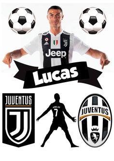 Soccer Birthday, Soccer Party, Soccer Ball, Cristiano Ronaldo Juventus, Juventus Logo, Bolo Real Madrid, Barcelona Cake, Football, Cake Toppers