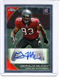 9f712b4f7 Gerald McCoy Rookie Card Tampa Bay Buccaneers Autographed