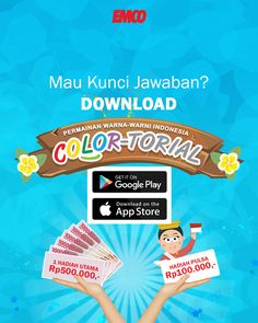 Kawan #EMCO yuk buruan download game #COLORtorial di playstore atau appstore… Ukurannya hanya 15MB…  Ikuti lombanya menangkan hadiahnya!  #EMCOpaint #EMCOfavorit #minikuis How To Get, App, Photo And Video, Google, Instagram, Apps