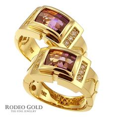 Gold rings with gemstones TCR12856