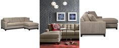 Clarke Fabric 2-Piece Sectional Sofa, Only at Macy's - Sectional Sofas - Furniture - Macy's