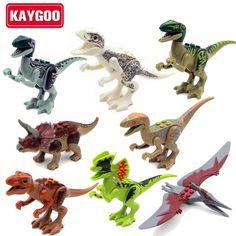 KAYGOO 8pcs/set l Jurassic dinosaurs World figures Variation Tyrannosaurus Assemble Blocks Classic Toy Best gift for boy