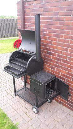 Bbq Pit Smoker, Fire Pit Grill, Barbecue Grill, Bbq Smokers For Sale, Smoker Designs, Parrilla Exterior, Barrel Bbq, Custom Bbq Pits, Wood Smokers