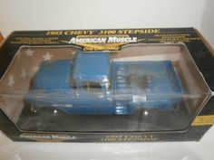 1/18 ERTL AMERICAN MUSCLE 1955 CHEVY 3100 STEPSIDE LIMITED EDITION #ERTL