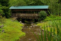 Covered Foot Bridge at  The Lily Barn  Townsend, Tennessee