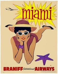 Braniff International Airways to Miami