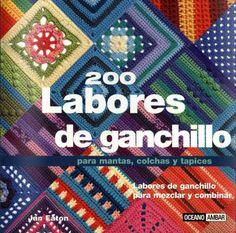 200 Crochet Blocks: for blankets, throws and afghans By Jan Eaton. Crochet Blocks, Crochet Squares, Crochet Motif, Crochet Stitches, Knit Crochet, Crochet Patterns, Granny Squares, Free Crochet, Knitting Books