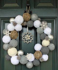 diy christmas wreath...