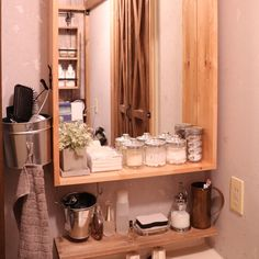 Bathroom Mirror Cabinet, Mirror Cabinets, Small Room Organization, Diy Interior, Wooden Crafts, Room Decor, House Design, Furniture, Laundry