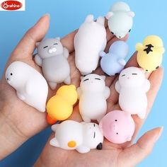 Mini Change Color Squishy Cute Cat Antistress Ball Squeeze Mochi Rising Abreact Soft Sticky Stress Relief Funny Gift Toy in Squeeze Toys from Toys Hobbies on Aliexpress com Animal Squishies, Cute Squishies, Stress Toys, Stress Relief Toys, Anxiety Relief, Balle Anti Stress, Fidget Toys, How To Relieve Stress, Pet Toys