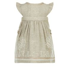 Monsoon Brown Baby esme woodland tweed pinny | Debenhams
