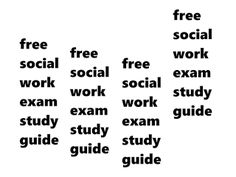Social Work Licensing Exam Prep Made Easy: Free Study Guide?! Yes, Free Study Guide