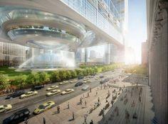 La perspectiva futurista de la vida urbana. SOM en Penn Station