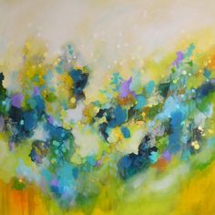Large Green and Yellow Abstract Painting, Original Art, Acrylic on Canvas Artwork, Large Canvas Art, Modern Abstract, Expressive Painting by Tamarrisart on Etsy