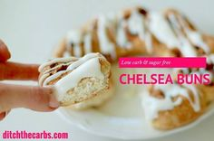The best and easiest low carb chelsea buns you'll ever find - seriously, these taste so good and so low in carbs. Sugar free. Grain free. Gluten free heaven. | ditchthecarbs.com