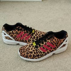 NEW Adidas ZX Flux leopard print women's BRAND NEW, NEVER WORN Adidas ZX Flux leopard print  original box not included Adidas Shoes Sneakers