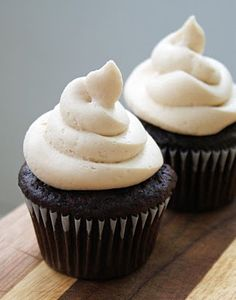 Black and Tan Cupcakes--with Guinness!