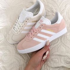 Today our #KickzOfTheDay Adidas Gazelle Vapour Pink & Off White ----- Inspired by @dresslikemila   Would you #ROCK or #DROP them? Let us know thoughts ----- Shop online @ LocoKickz.com - click the link in the bio to be redirected!