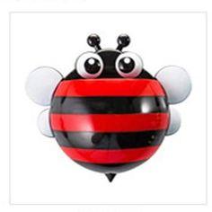Snail/Bee Cartoon Suction Toothbrush Holder - 1pc
