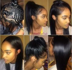 Your sew in hair weave should be this natural looking and versatile sew in braid pattern the the actual see in itself usually doesnt work well when you have extremely thin hair pmusecretfo Gallery