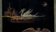 Mora clock , swedish chinoise painting of Rokoko period