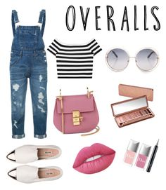 """Overalls"" by maria-theresa-gavieres-padua on Polyvore featuring Guild Prime, Alice + Olivia, Chloé, Lime Crime, Christian Dior, Urban Decay and Miu Miu"