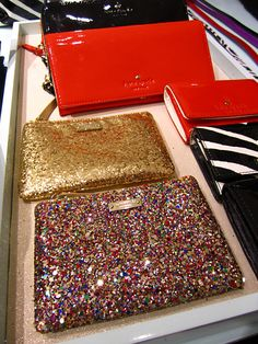Multicolor glitter Kate Spade clutch... fun but I'm sure VERY expensive...love Kate Spade