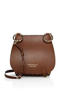 b05f67b1def5 Burberry - Bridle Riveted Leather Saddle Bag Leather Saddle Bags